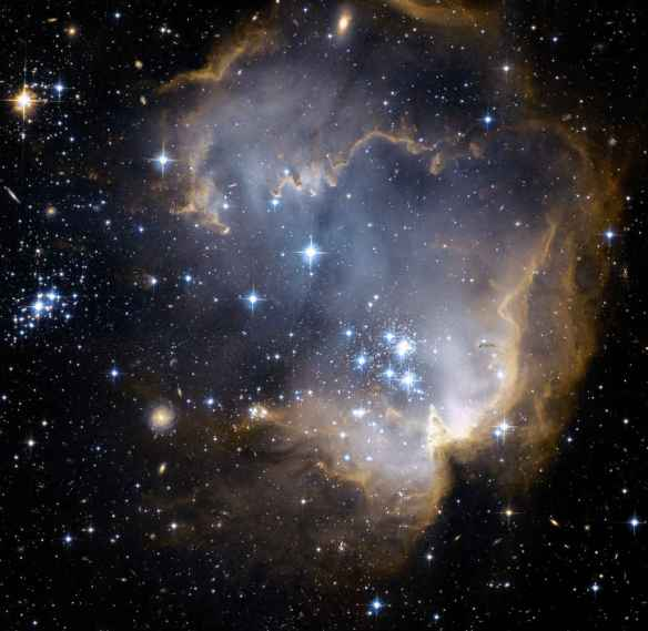 Star forming nebula in small Magellanic Cloud (N90)