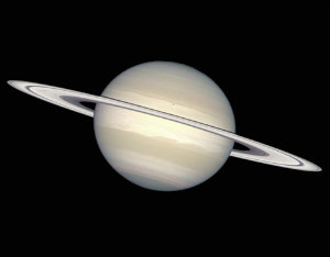 Planet Saturn - Light travels 1.3 hours to reach us