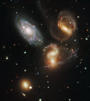 Stephan's Quintet - 300,000,000 light years away