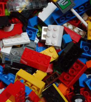 Childhood lego choas